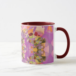 Butterfly Blossoms in Magenta Mug