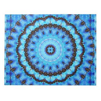 Butterfly Blue Mandala Notepad