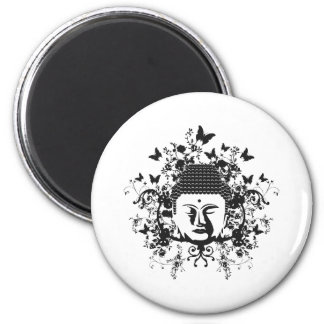 Butterfly Buddha 6 Cm Round Magnet