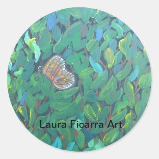 Butterfly Bush Round Sticker