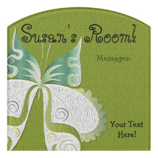 Butterfly Child or Dorm Room Message Board Sign 1
