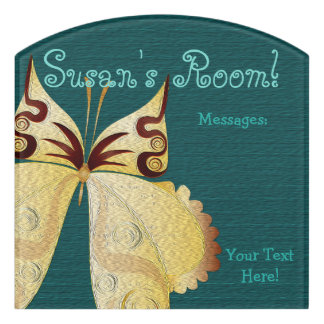 Butterfly Child or Dorm Room Message Board Sign 2