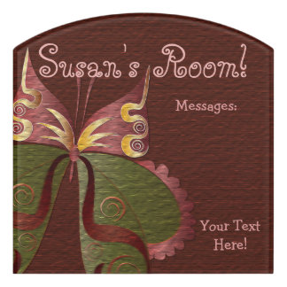 Butterfly Child or Dorm Room Message Board Sign 4