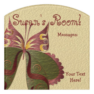 Butterfly Child or Dorm Room Message Board Sign 4B