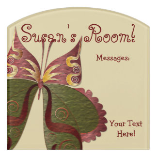 Butterfly Child or Dorm Room Message Board Sign 4C