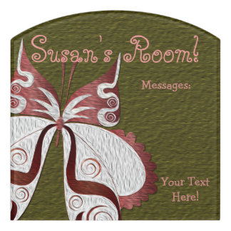 Butterfly Child or Dorm Room Message Board Sign 5