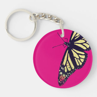 """Butterfly"" Circle (single-sided) Keychain"
