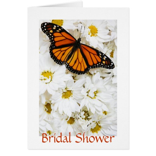 Butterfly & Daisies Bridal Shower Card