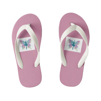 Butterfly Dancing flip flops for Girls Thongs