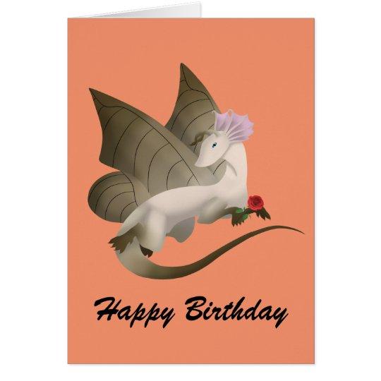 Butterfly Dragon Happy Birthday Card