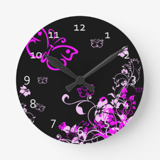 Butterfly Floral Clocks