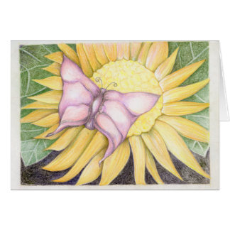 Butterfly Flower Stationery Note Card
