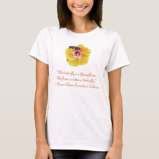 Butterfly Flower Cross stitch with quote T-Shirt
