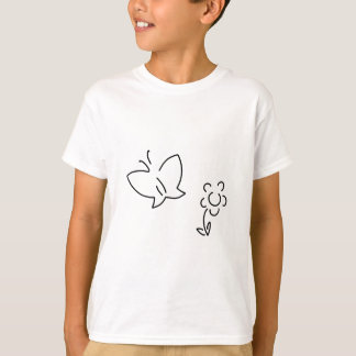 butterfly flower falter crawler-type vehicle T-Shirt