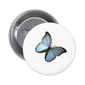 Butterfly Freiburg Germany Blue 45 deg The MUSEUM Pinback Button