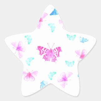 butterfly fun star sticker