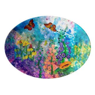 Butterfly Garden (Landscape) Serving Platter
