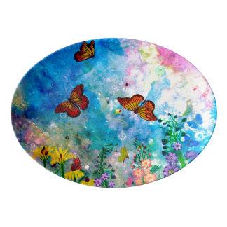Butterfly Garden Platter