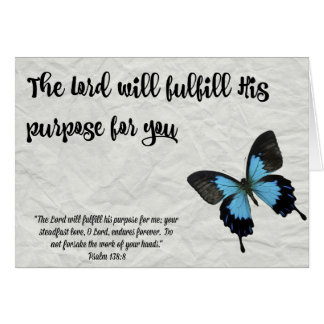 Butterfly Graduation Card-The Lord's Purpose Note Card