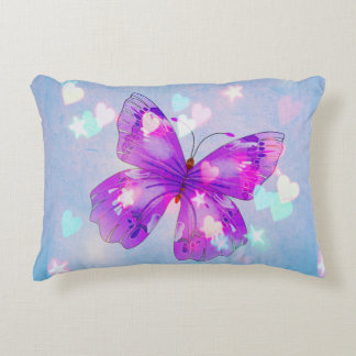 butterfly hearts and stars accent cushion