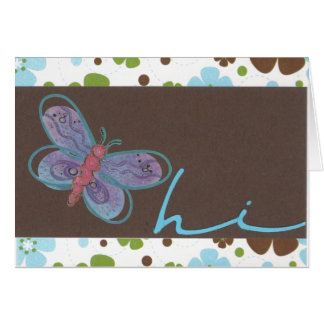 Butterfly Hi Notecard Note Card