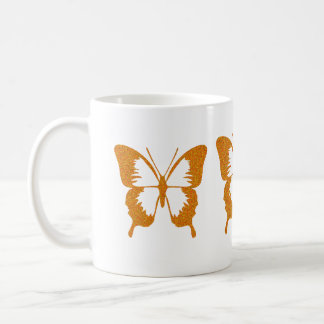 Butterfly in Gold Metallic Coffee Mug