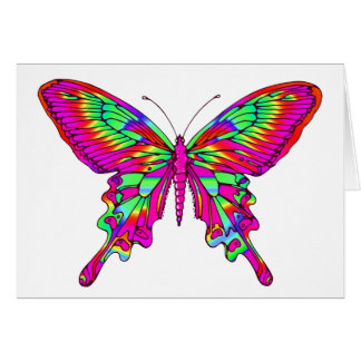Butterfly in Hot Pink Multi Card