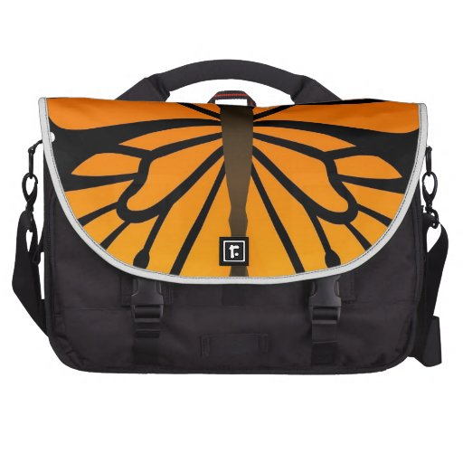 Butterfly Kisses Floral Angel Graphic Design Laptop Messenger Bag