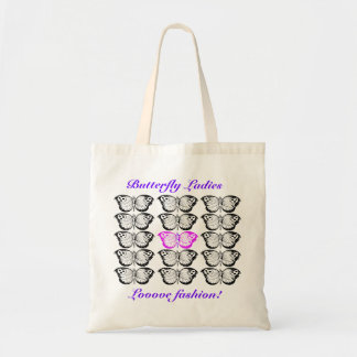 Butterfly Ladies Looove Fashion! Budget Tote Bag