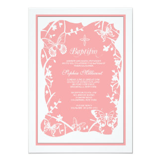 Butterfly Meadow Religious Invitation