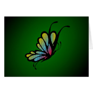Butterfly Mosaic Green Note Card