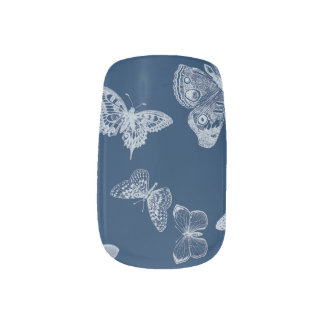 butterfly nails - indigo nails sticker