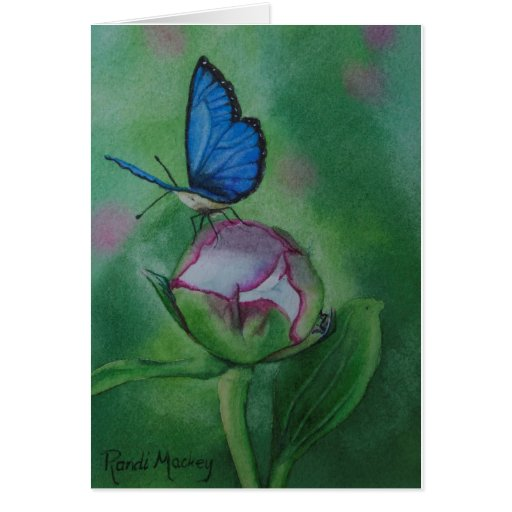 Butterfly Notecard Print from Watercolor Card