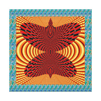 Butterfly on Golden Airwaves Abstract Art Gifts Canvas Print