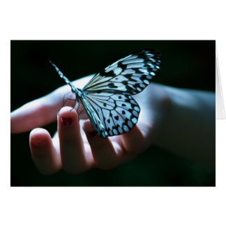 butterfly on hand note card