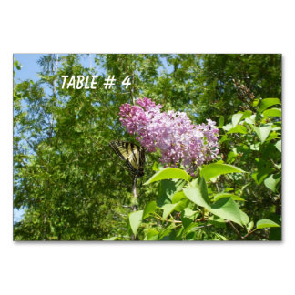 Butterfly on Lilac Flower Table Cards