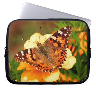 Butterfly on Yellow Flowers Electronics Bag