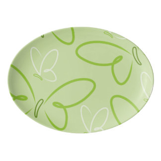Butterfly pattern porcelain serving platter