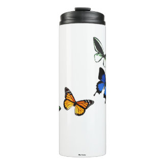 Butterfly Pattern Thermal Tumbler