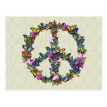 Butterfly Peace Symbol Postcard
