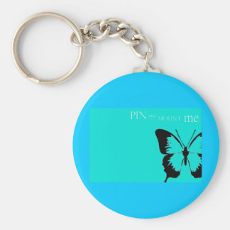 Butterfly pin and mount key ring