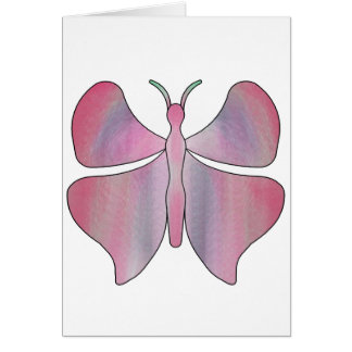 Butterfly Pink Note Card