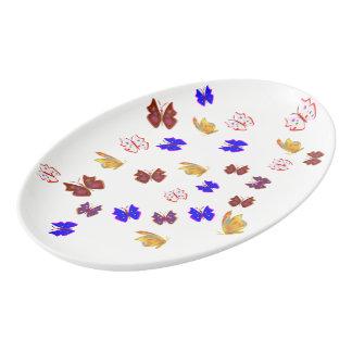 Butterfly Porcelain Serving Platter