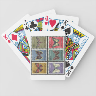 Butterfly Postage Stamps Bicycle Playing Cards