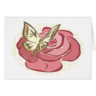 Butterfly & Rose - Note Card
