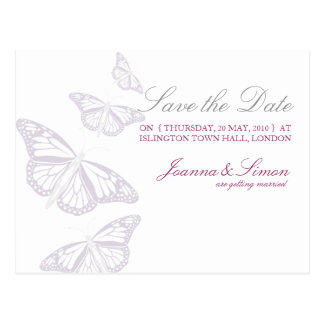 Butterfly Save the Date Postcards