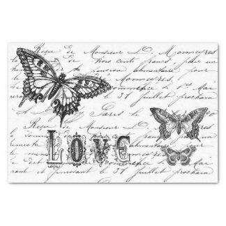 Butterfly Script Tissue Paper