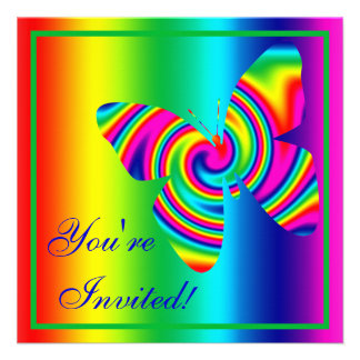 Butterfly Shaped Rainbow Twirl Announcement