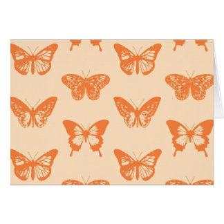Butterfly sketch, coral orange cards