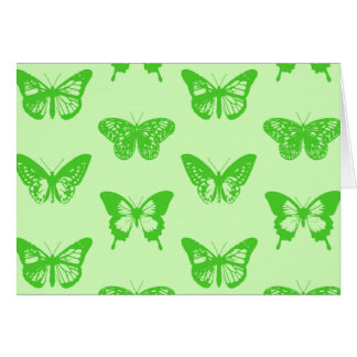 Butterfly sketch,  lime green greeting cards